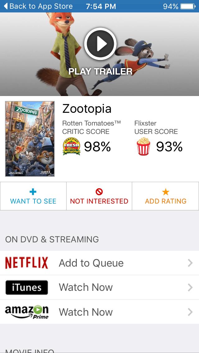 Flixster: Rotten Tomatoes