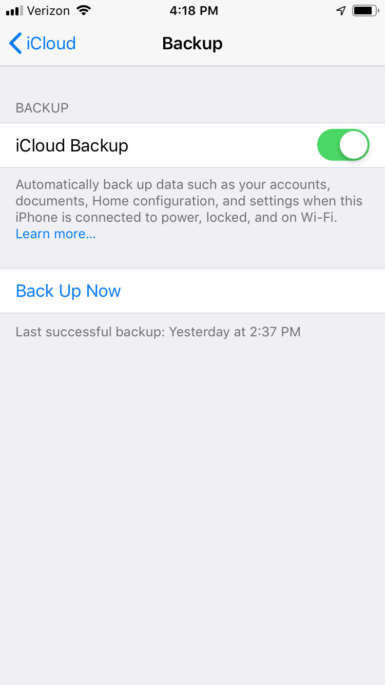 Backing Up Your iPhone