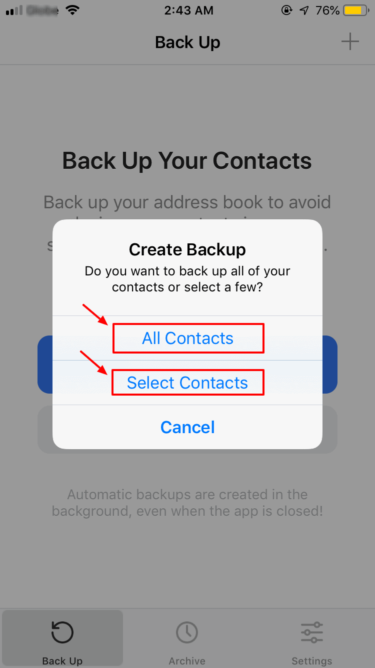 Backup All iPhone Contact