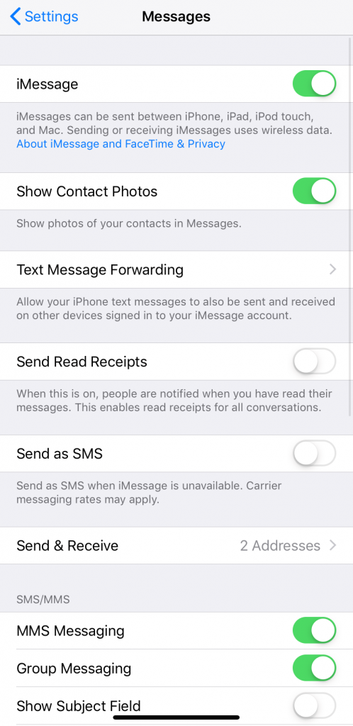 Check if iMessage is On