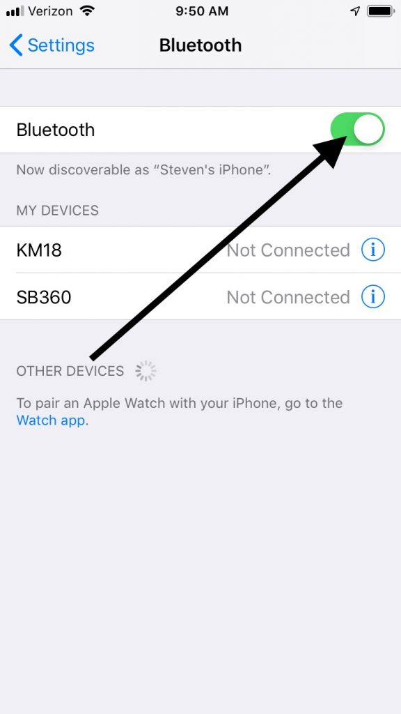 Iphone Bluetooth Setting