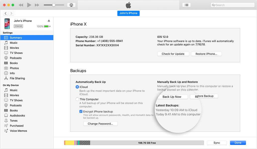 iTunes iOS Update