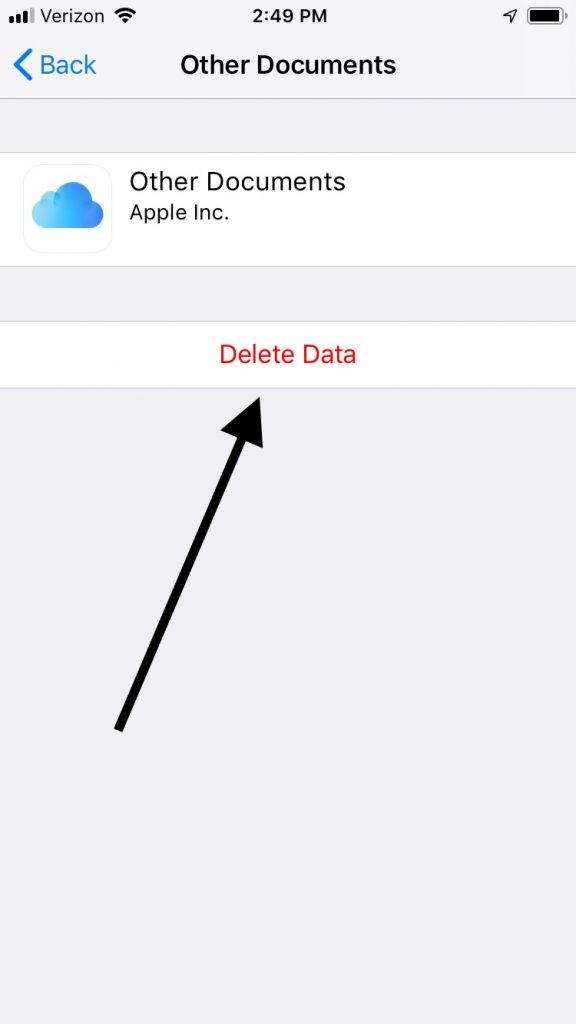 Delete Files if iCloud Storage is Full