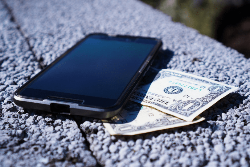 Smartphone for cash