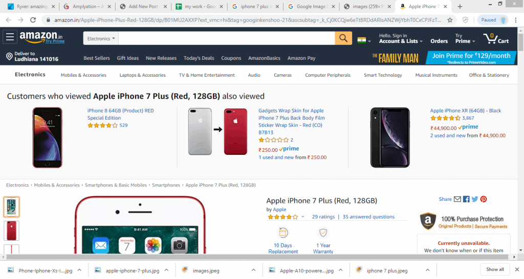 Buying an iPhone on Amazon