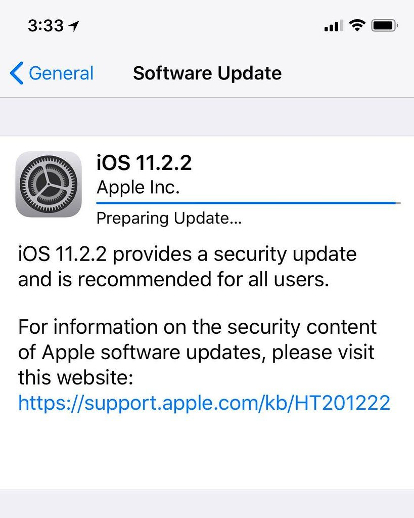 iOS Update for Invalid SIM Card Message