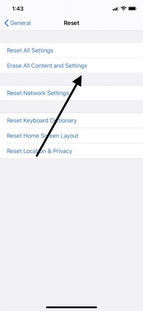Factory Reset for No Sound on iPad