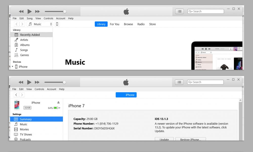 Backup Your iPhone to iTunes