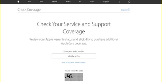 Check AppleCare coverage