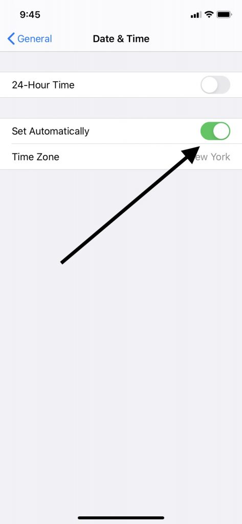 Date and Time for iPhone Location Services Not Working