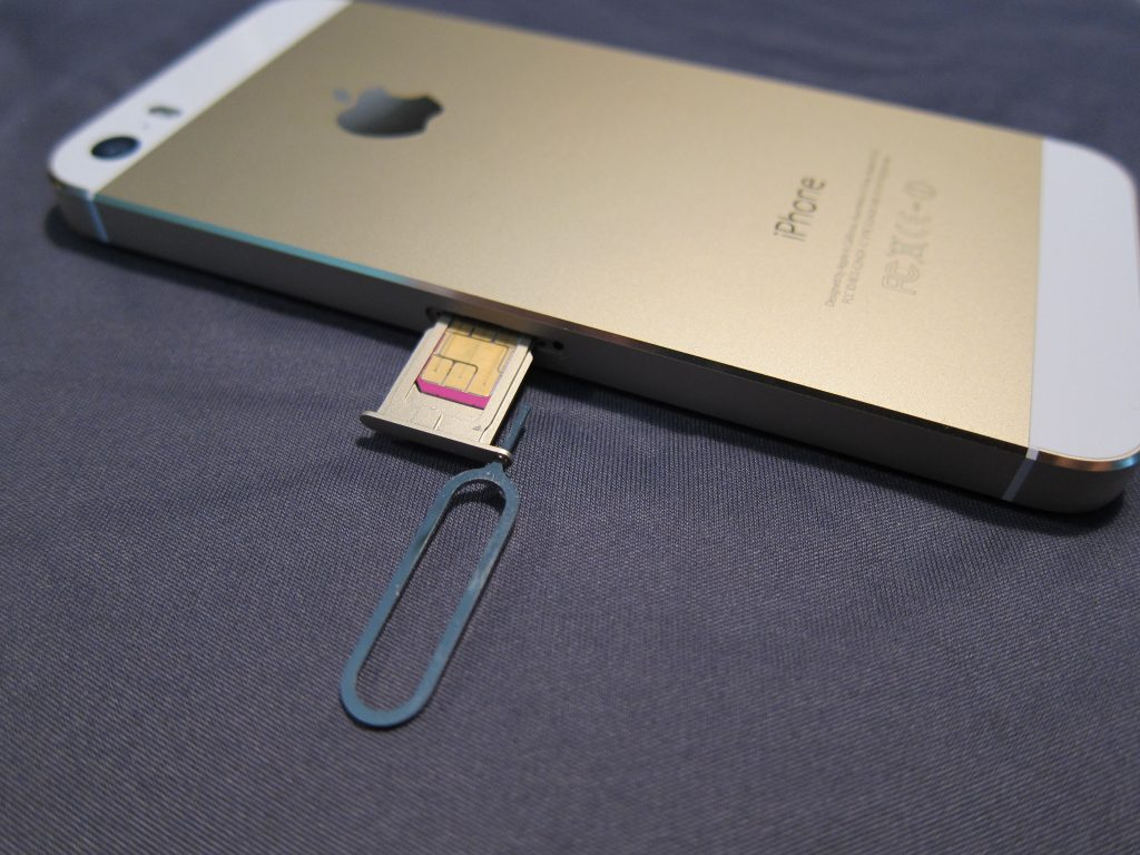 Removing iPhone SIM Card Using Tool