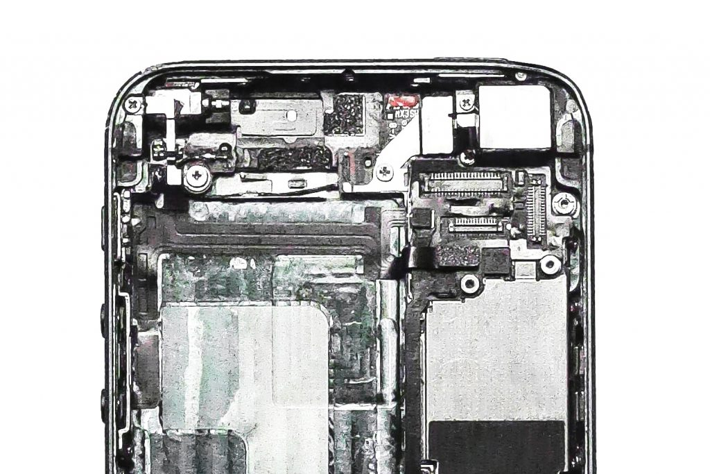Inside of a cracked/ damage iPhone