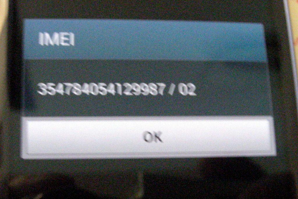 Samsung Galaxy IMEI number