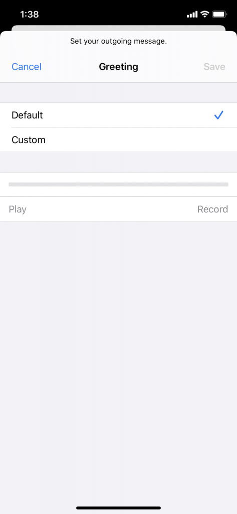 Setting Up an iPhone Personalized Voicemail
