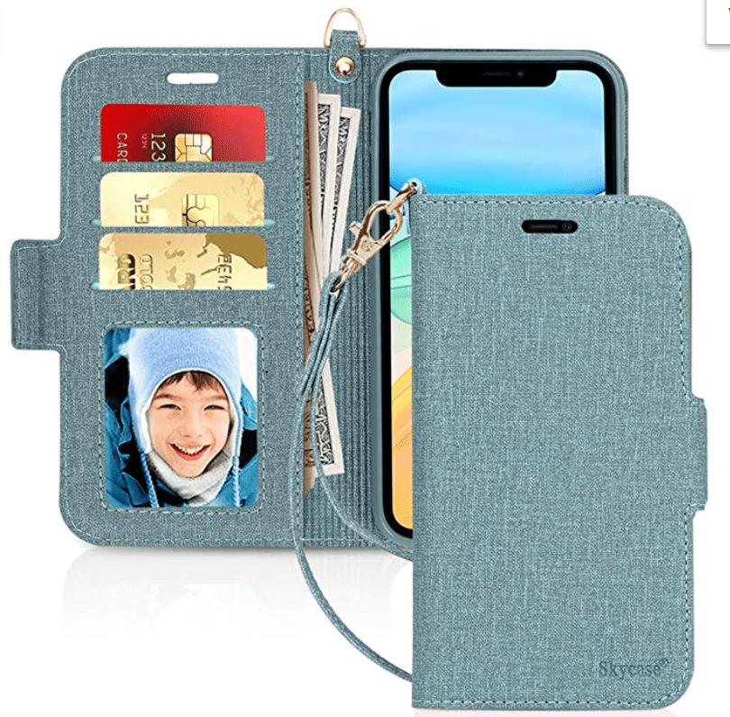Sky case Handmade Flip Folio Wallet Case