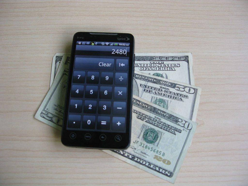 Smartphone with money
