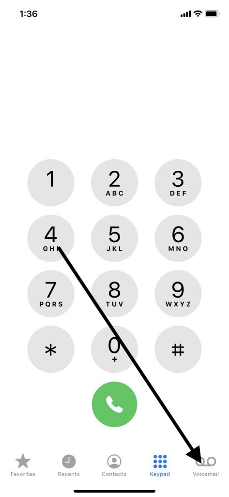 Voicemail Icon on Your iPhone