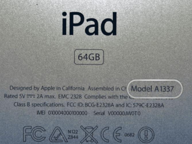 Ipad Model Number