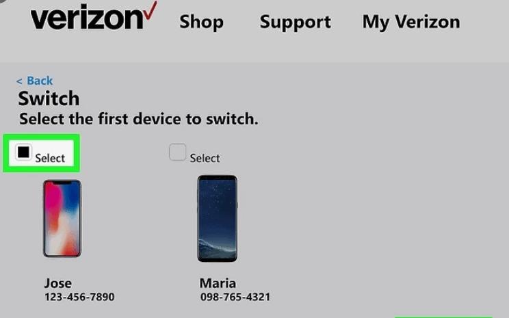 Switch Phones on Verizon