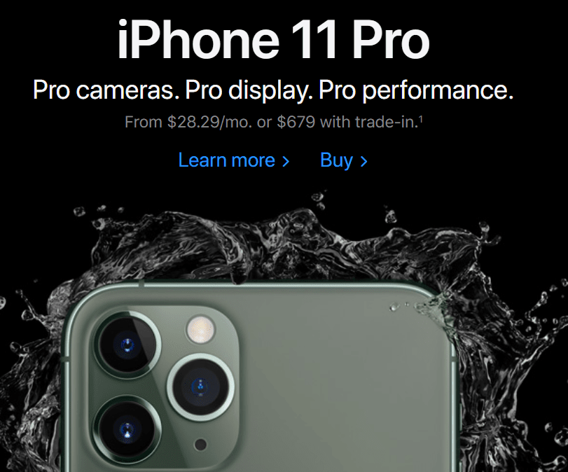 iPhone 11 Pro Payments Program