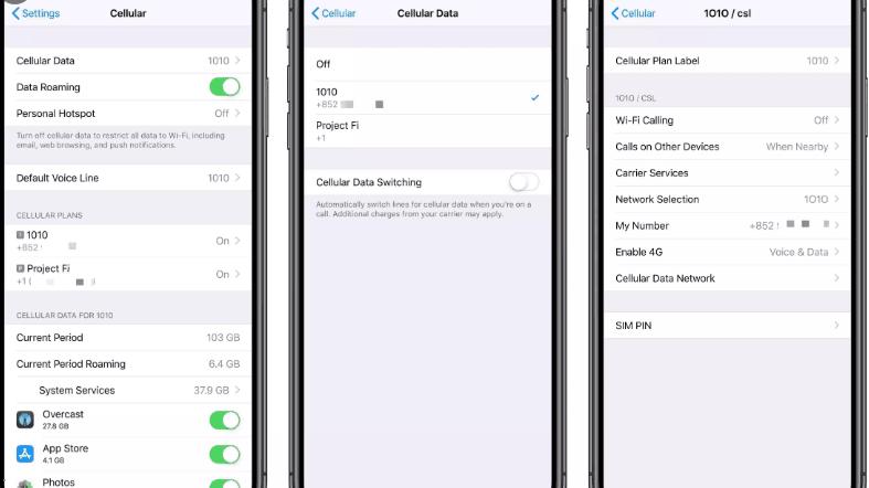 iPhone eSIM setup